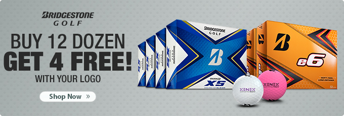Bridgestone Custom Logo Golf Balls, Every 12 Logo Dozen Gets 4 Free
