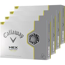 Callaway Golf HEX Chrome Yellow Personalized Golf Balls - Buy 3 dz Get 1 dz Free