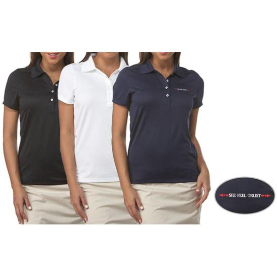 Callaway Golf Chev Linear See Feel Trust Logo Polo for Women