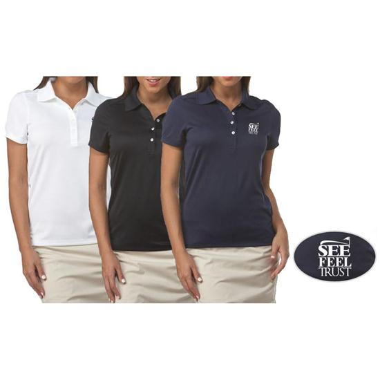 Callaway Golf Chev See Feel Trust SFT Logo Polo for Women