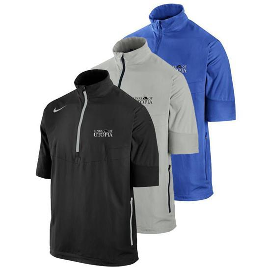 Nike Men's Sport SS Half Zip Links of Utopia Logo Windshirt
