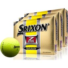 Srixon Z-Star 2 Tour Yellow Personalized Golf Balls - Buy 2 DZ Get 1 DZ Free