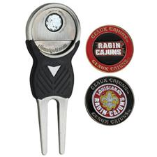 Team Golf Divot Tool and Ball Marker Pack - UL Ragin Cajuns