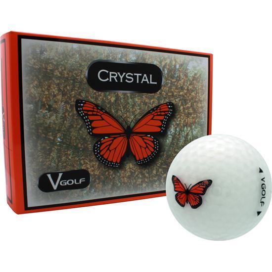 V Golf Crystal Golf Balls - Butterfly Logo