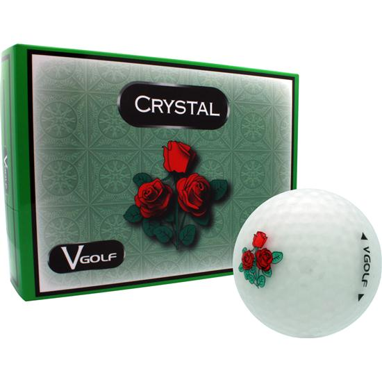 V Golf Crystal Golf Balls - Rose Logo