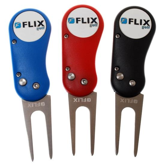 Logo Golf Flix Lite Divot Tool with Color Magic Ball Marker