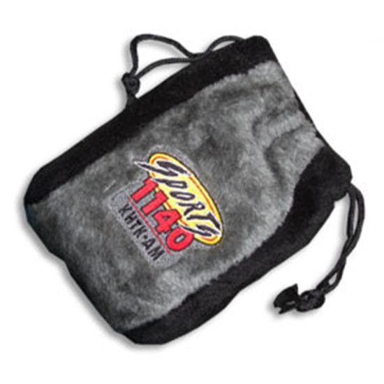 Logo Golf Microplush Fairway Drawstring Valuables Bag