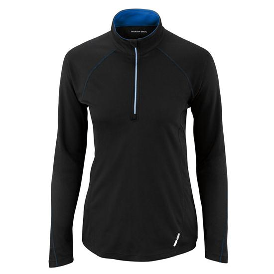 North End Subtle Contrast Color Half-Zip Jacket for Women