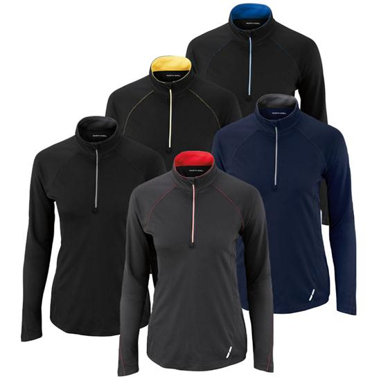 North End Subtle Contrast Color Half-Zip Jacket for Women