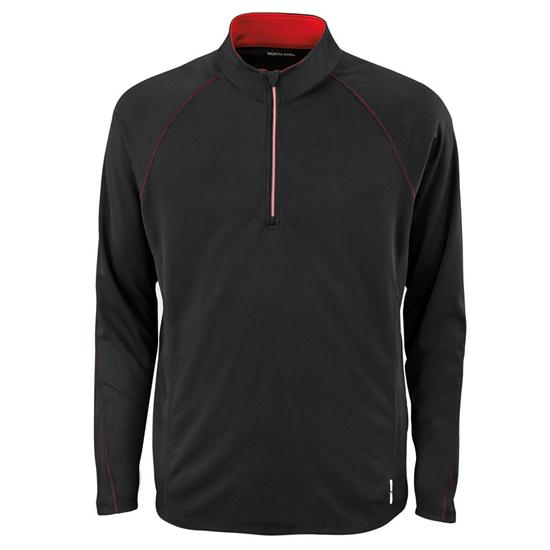 North End Men's Subtle Contrast Color Half-Zip Jacket
