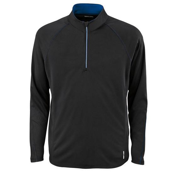 North End Men's Subtle Contrast Color Half-Zip Jacket