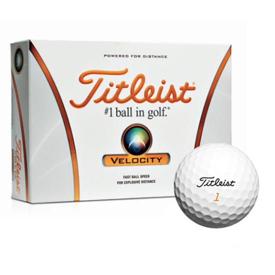 Titleist Velocity Golf Ball Logo Overruns - 2012 Model