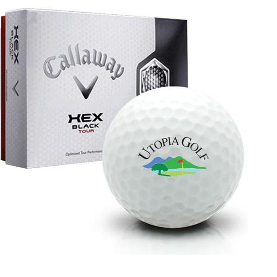 Callaway Golf Hex Black Tour Utopia Golf Logo Golf Balls