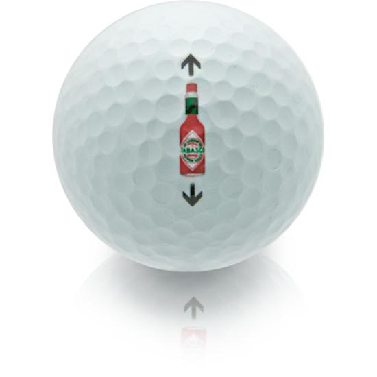 TABASCO Brand Bottle Alignment Aid Golf Balls