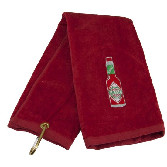 TABASCO Brand Bottle Design Golf Towel