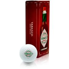 TABASCO Brand Golf Balls 3-Ball Sleeve - White - Tabasco Diamond Logo