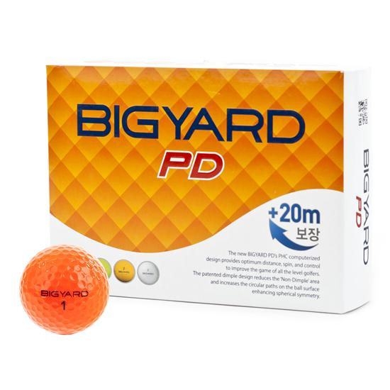 BigYard PD 2 Piece Orange Golf Balls