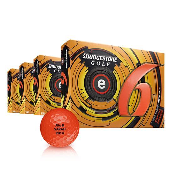 Bridgestone e6 Orange Golf Balls - Buy 3DZ Get 1DZ Free