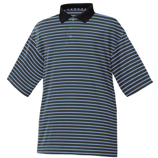 FootJoy Men's Stretch Pique Stripe Polo- Previous Season Apparel
