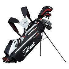 Titleist Exceptional Lightweight Waterproof Stand Bag  - Black/White/Red