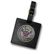 Logo Golf Custom Logo 3 Inch Leather Bag Tag