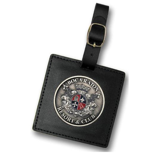 Logo Golf 3 Inch Leather Bag Tag
