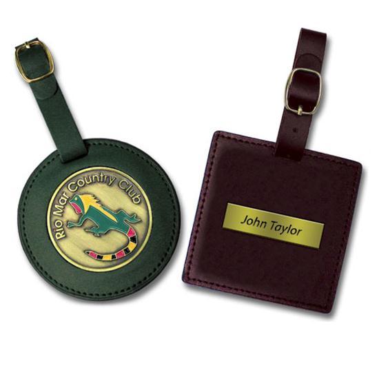Logo Golf 3 Inch Leatherette Bag Tag