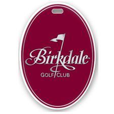 Logo Golf Color Magic Oval Custom Bag Tag