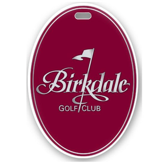 Logo Golf Color Magic Oval Custom Bag Tag