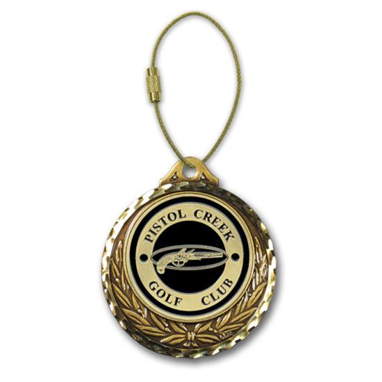 Logo Golf Diamond Cut Winner's Circle Custom Bag Tag