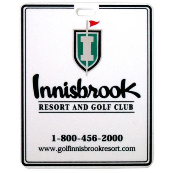 Logo Golf Plastic Bag Tag w/ Metallic Imprint