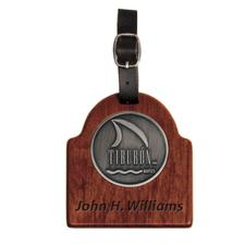 Logo Golf Custom Logo Rosewood Custom Sunrise Bag Tag