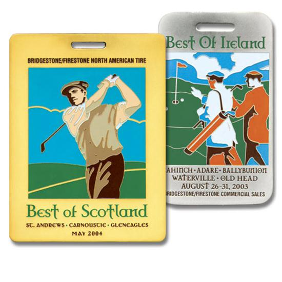 Logo Golf Royal Etched Bag Tag