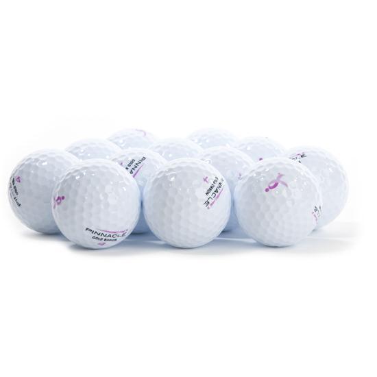 Pinnacle Gold Ribbon Golf Balls for Women
