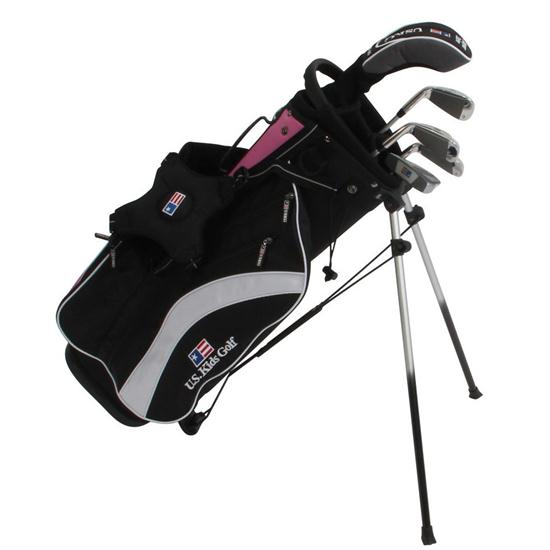 U.S. Kids Ultralight 51 In. 5-Club Pink Stand Bag Junior Set