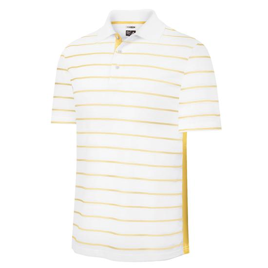 Adidas Men's ClimaCool White Based Striped Polo