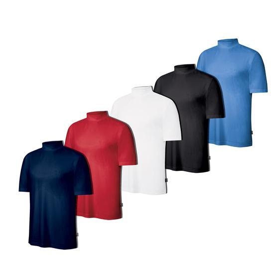 Adidas Men's ClimaLite Logo Short Sleeve Stretch Jersey Mock