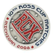 Logo Golf Custom Logo Round Die Struck Ball Marker
