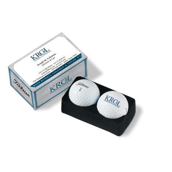 Titleist PackEdge Custom 2-Ball Business Card Box