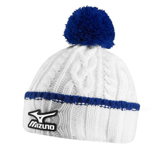 Mizuno Men's Cable Knit Bobble Beanie Hat