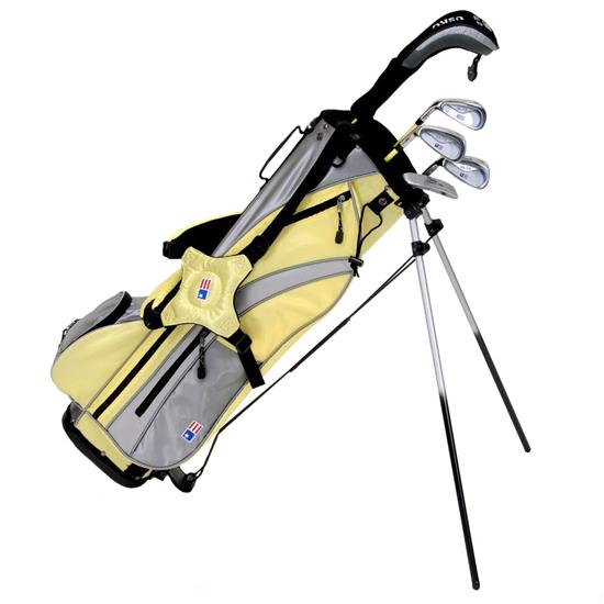 U.S. Kids Girls Ultralight Series Lemon 5 Club Stand Bag Set