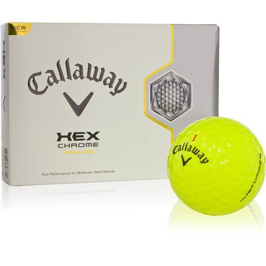 Callaway Golf HEX Chrome Yellow Logo Overrun Golf Balls