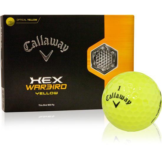Callaway Golf HEX Warbird Yellow Golf Balls