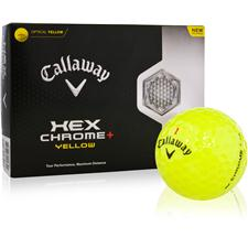 Callaway Golf Hex Chrome+ Yellow Golf Balls