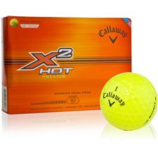 Callaway Golf X2 Hot Yellow Golf Balls