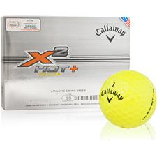 Callaway Golf X2 Hot+ Yellow Logo Overrun Golf Balls