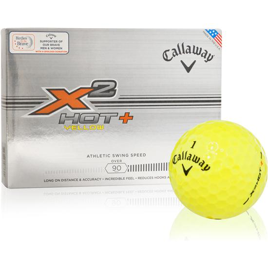 Callaway Golf X2 Hot+ Yellow Golf Balls