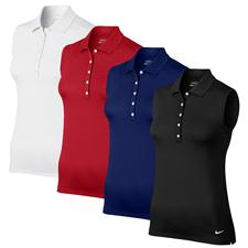Nike Custom Logo Victory Sleeveless Core Polo for Women