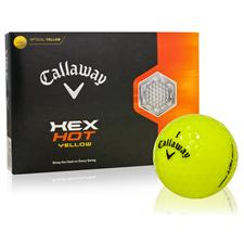 Callaway Golf HEX Hot Yellow Logo Overrun Golf Balls