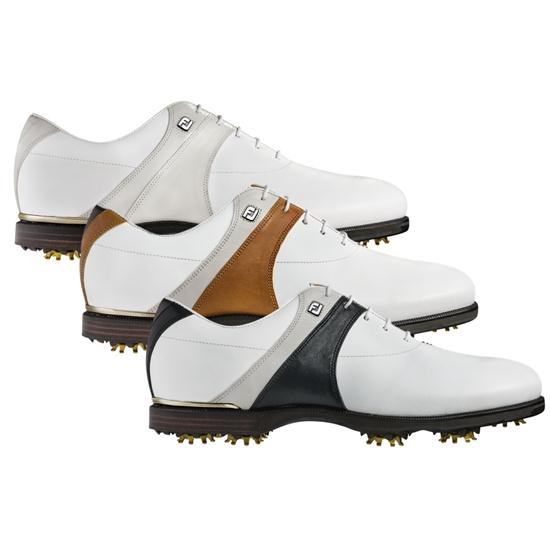 FootJoy Men's Icon Black Saddle Golf Shoes